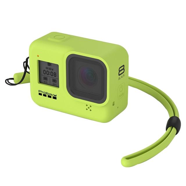 Probty for gopro hero 8 블랙 액세서리 케이스 gopro hero 8 black hero 카메라 용 보호 실리콘 케이스 스킨