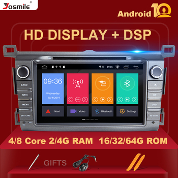DSP IPS 4GB 64G 2 Din Android 10 car multimedia dvd player GPS for Toyota RAV4 Rav 4 2013 2014 2015 2016 2017 2018 radio stereo image