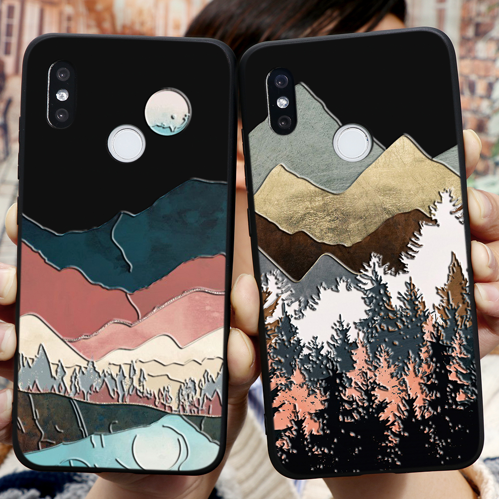 3D Relief Phone Case For Fundas Xiaomi Redmi Note 8 8T 7 6 5 K30 K20 Pro Plus S2 7A 8A 5A 6A Silicone Coque Case For Redmi K30