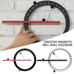 2020 kreatywny kulka magnetyczna zegar ścienny wieczny kalendarz ścienny nowość Home Decor styl europejski salon sypialnia ozdoby