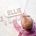 Nome personalizado com moutain childs quebra-cabeça de madeira-presente de natal-brinquedos de madeira-ornamento do berçário do bebê presentes de batismo de aniversário