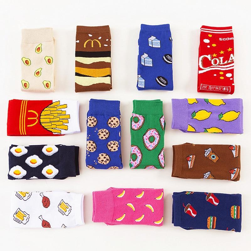 Носки женские, с забавными рисунками
