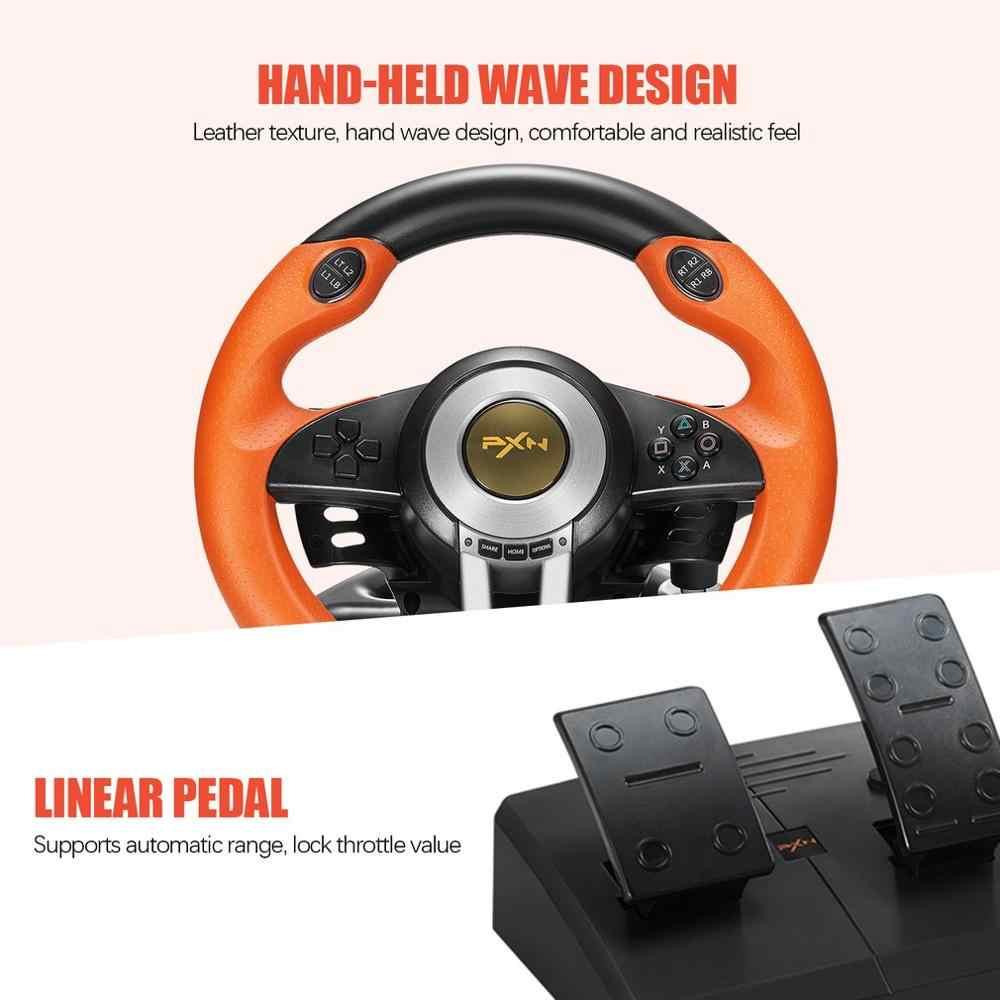 PXN V3II Racing Game Pad 180 градусов, Джойстики для руля с складной педалью для ПК, PS3, PS4, все в одном