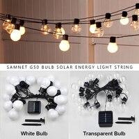 Guirnalda de luces LED G50 para exteriores, farola de energía Solar para decoración navideña, iluminación para interiores y vacaciones