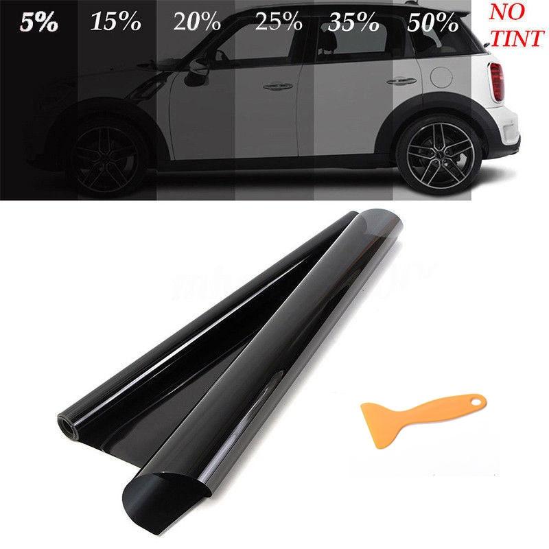 50cm x3m 5/%-50/% Car Auto Window Tint Film Roll Home Glass Cover Tinting Black