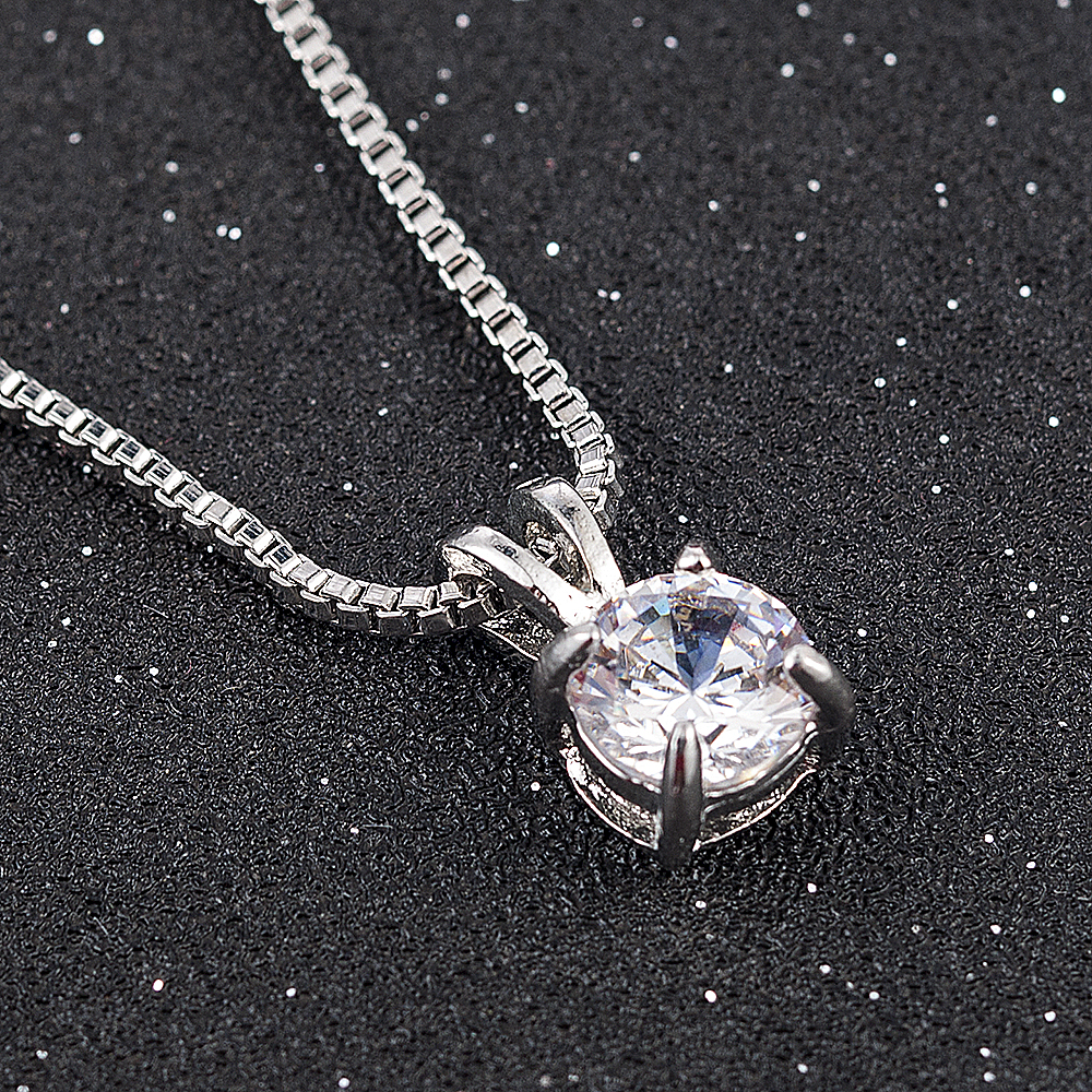 2020 Classic Wedding Crystal Color Teardrop Pendant Necklace for Women Trendy Rhinestone Collar Necklace Jewelry statement