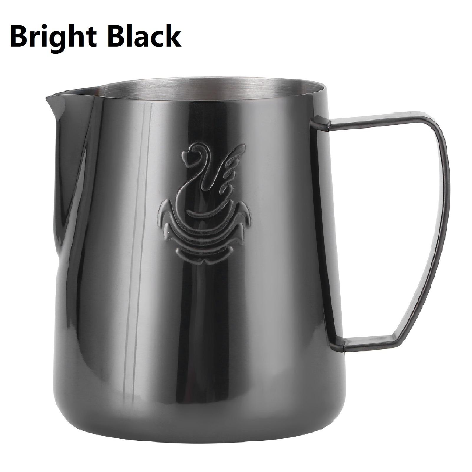 400 мл/600 мл черная кружка для вспенивания молока, украшенное лебедем для Нержавеющаясталь Кофе Кубок пенообразователь кружка кофе латте ис...