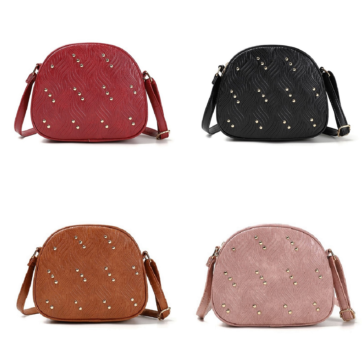 Crossbody Bags For Women Shoulder Bags Female Vintage Leather Bags Women Handbags Famous Brand  PU Leather Rivet Small Ladies