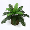 46 см 24 листья тропической искусственные пальмы тропический персидский букет листьев Шелковые Растения папоротника листья для домашнего оф...