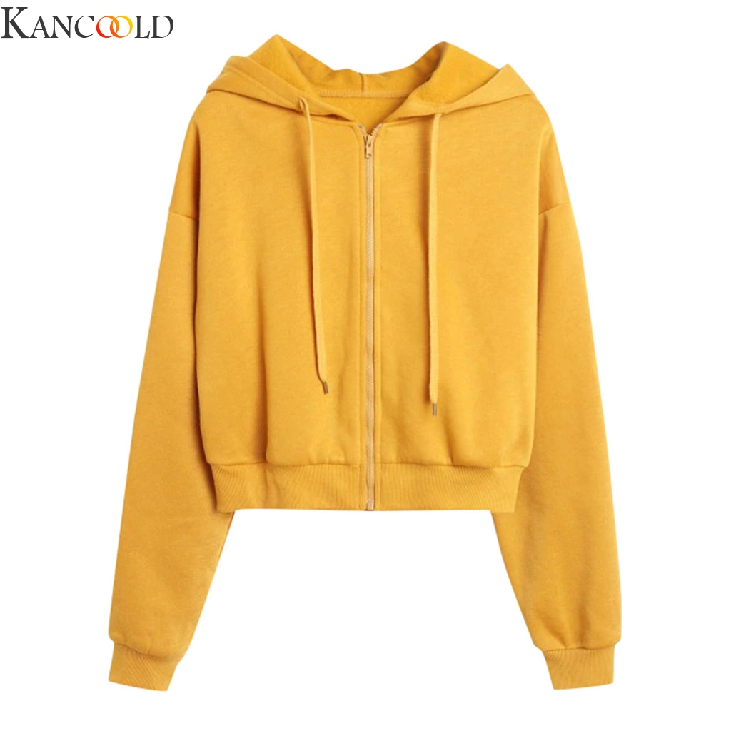 KANCOOLD Womens Autumn Long Sleeve Hoodie Sweatshirt Letters Hooded Pullover Tops Fashion Polyester Loose Casual Hooded New