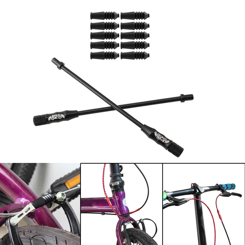 Bike Bicycle V Brake Cable Noodle Brakes Guide Pipe 90 Degree Boots Cover Silver