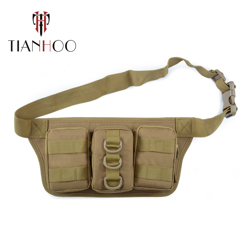 TIANHOO High Quality Oxford Outdoor Waist Bags Travel Camouflage Multifunctional Tactical Men Bag