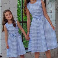 Мама и я, семейные платья для мамы и дочки, одежда, клетчатое платье для мамы, детская одежда, платье для мамы и сестры