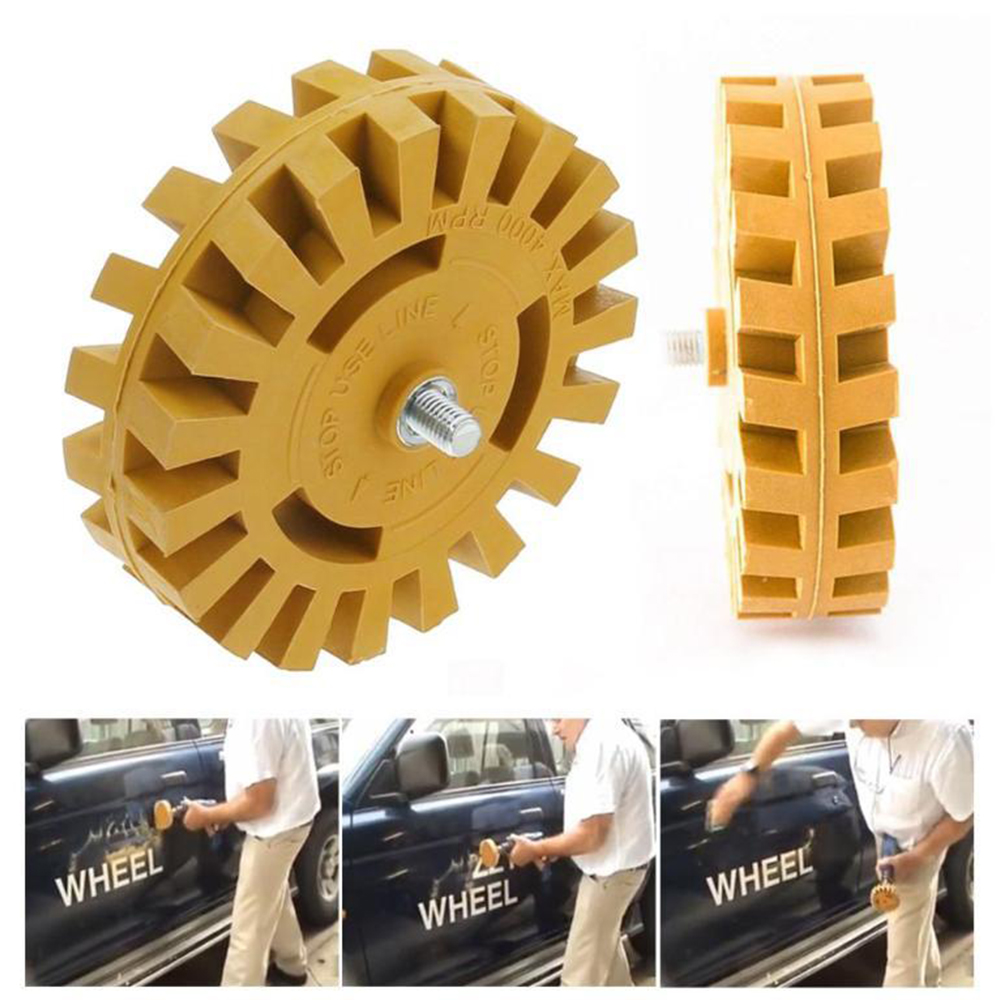 4 Inch 20mm/26mm Paint Repair Car Power Drill Adapter Smooth Pinstripe Eraser Wheel Auto Effective Quick Rubber Decal Removal