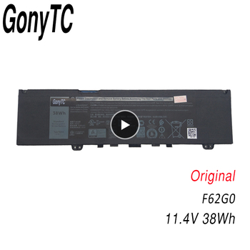 GONYTC F62G0 11.4V 38WH New Original Laptop Battery F62G0 for Dell Inspiron 13 5370 7370 7373 Vostro 5370 RPJC3