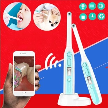 Wireless WiFi Oral Dental Endoscope HD Video Intraoral Camera 8 Adjustable Led Lights for iOS Android Teeth Inspection Endoscope new easy go dental wireless intraoral intra oral camera usb sd card 6 led mega pixels h