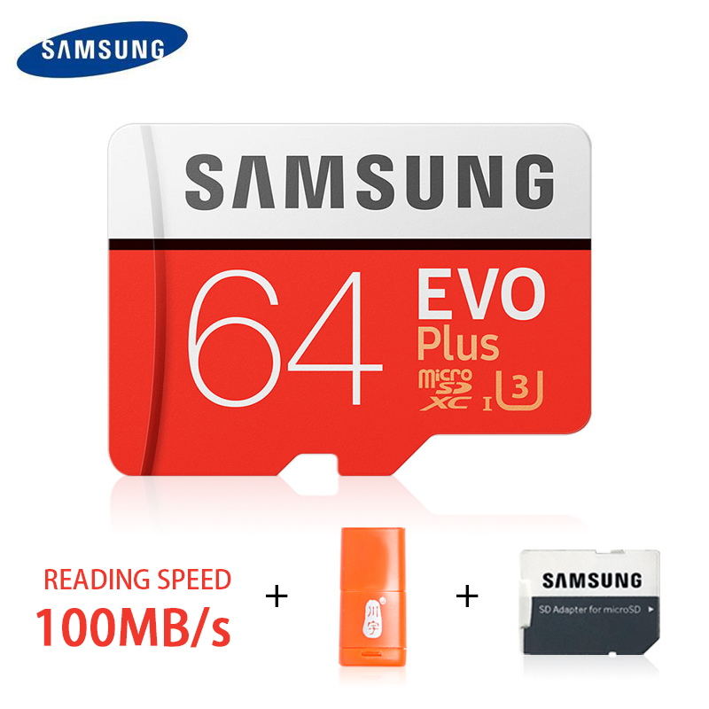SAMSUNG Micro SD Card 256GB 32GB 64GB 128GB Memory Card SDHC SDXC Grade EVO Plus Claas10 UHS TF SD Cards for smartphone/camera