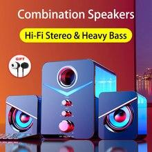 Sistema de cinema em casa caixa de som pc baixo subwoofer alto-falante bluetooth alto-falante do computador música boombox desktop portátil altavoces tv alto-falantes Bluetooth caixa de som para pc colunas casa