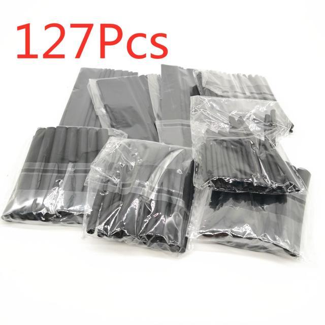 127-164 szt. Rurka termokurczliwa zestaw izolacyjny rękaw termoaktywny poliolefinowe kurczliwe różne rurki termokurczliwe drut kablowy