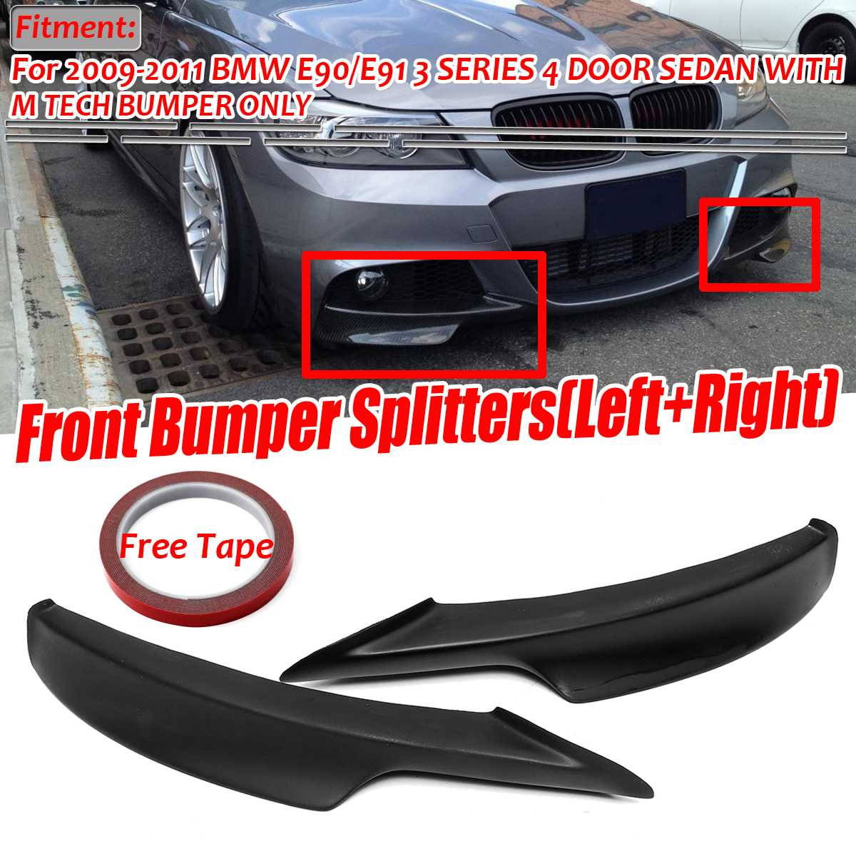 7PCS Car Front Fog Bumper Light Assembly Protect Fit For POLO 2014-2017