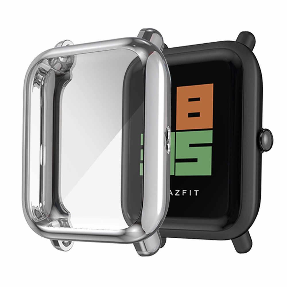 Orologio Per Il Caso di Xiaomi Huami Amazfit Bip Lite Copertura di Caso di TPU Molle Del Silicone Protezione Dello Schermo Per Huami Amazfit Guarda Completo copertura