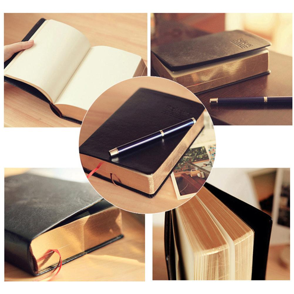 Vintage Agenda Planner Thick Paper Notebook 240Pcs Blank Page Diary Journal Stationery Suitable For Traveler Student Artist