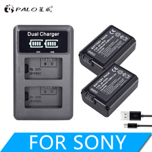 2pcs 2000mAh NP-FW50 NP FW50 Batteries for Camera + LCD Dual USB Charger Sony Alpha A6500 A6300 A6000 A5000 A3000 Nex-3 a7r