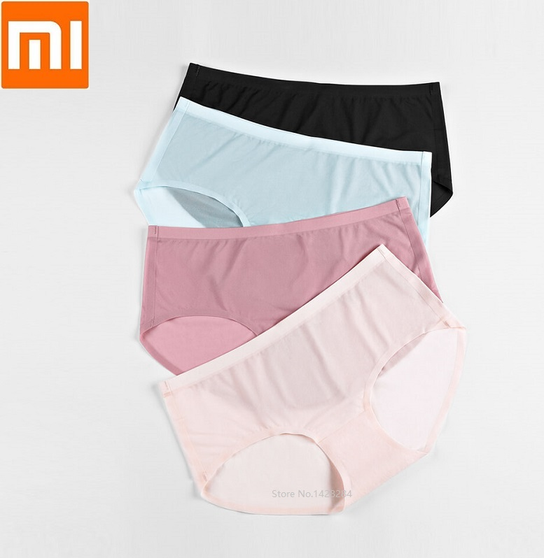 2pcs lot 2019 Xiaomi Cotton Smith Air Sensatio Underwear Women Superfine Fiber Briefs Comfortable Breathable Female in Screwdriver from Tools