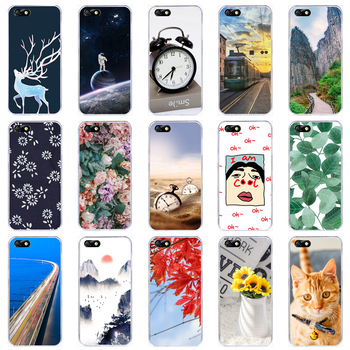 Lamocase Case For Huawei Y5 Lite 2018 Y 5 Y5Lite DRA-LX5 Case For Huawei Y5 Lite 2018 Cases Silicone Painted Phone Cover Bags image