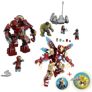 Compatible With Marveles Super Heroes 76031 Avengers Building Blocks Ultron Figures Iron Man Hulk Buster Bricks Toys