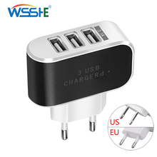 5V 2A US/EU plug Phone Charger Quick Charge 3 ports USB Charger Fast Charging Travel Wall Charger Universal Mobile Phone Charger usb charger eu us plug 3 ports quick charge fast charging mobile phone charger for iphone x samsung xiaomi huawei travel charger