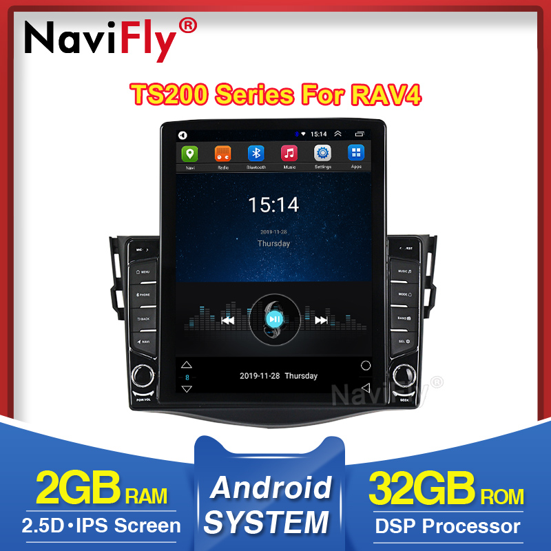 NaviFly HD 1024*768 For Toyota RAV4 Rav 4 2007 2008 2009 2010 Car Multimedia player DSP IPS screen wifi Radio FM AM image