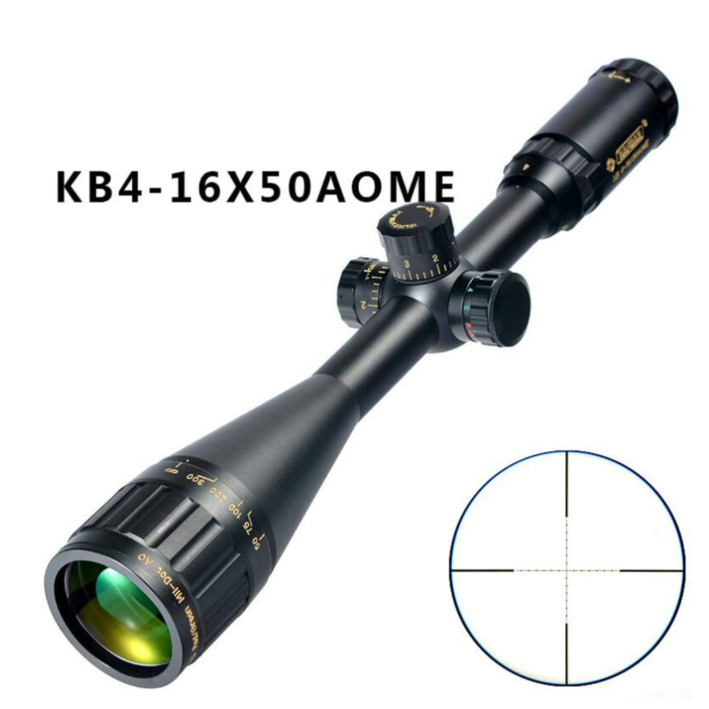 KANDAR Gold Edition 4-16x50 AOME Glass Etched Mil-dot Reticle Locking RifleScope Hunting Rifle Scope Tactical Optical Sight
