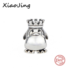 Real 925 Sterling Silver Charm Beads Fit Original Pandora Bracelet Pendants DIY Jewelry Crown SIMS