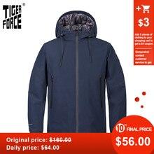 TIGER FORCE 2020 новая мужская куртка с капюшоном ветровка ветрозащитная Высококачественная теплая уличная верхняя одежда повседневная одежда TJBW-50636