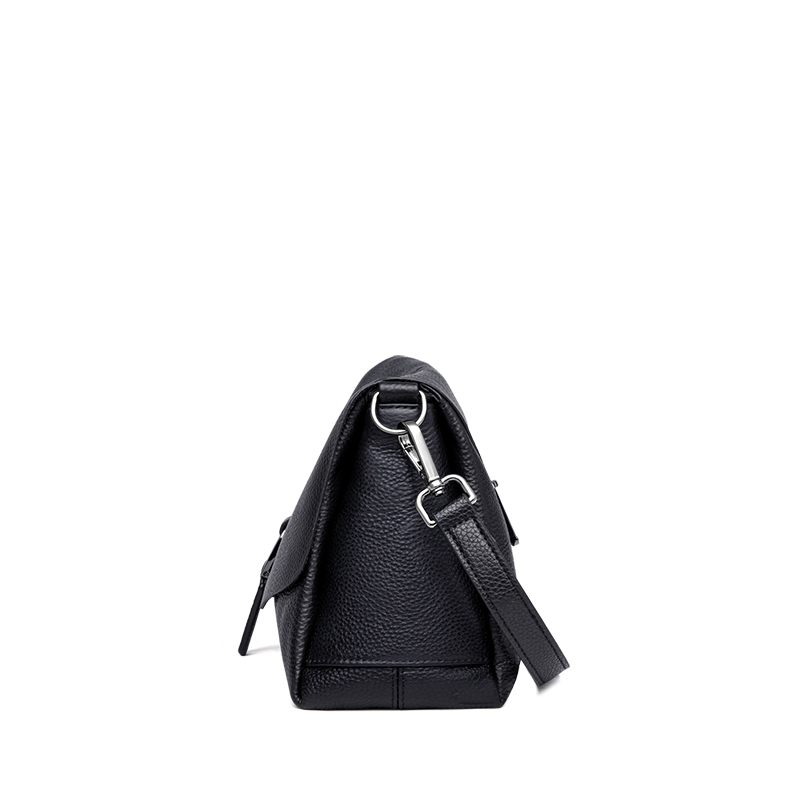 ZOOLER السيدات Crossbody حقيبة حقيبة يد فاخرة النساء حقائب كتف مصمم جلد طبيعي أسود حقيبة ساعي الإناث الفتيات # LD200-في حقائب قصيرة من حقائب وأمتعة على  مجموعة 3