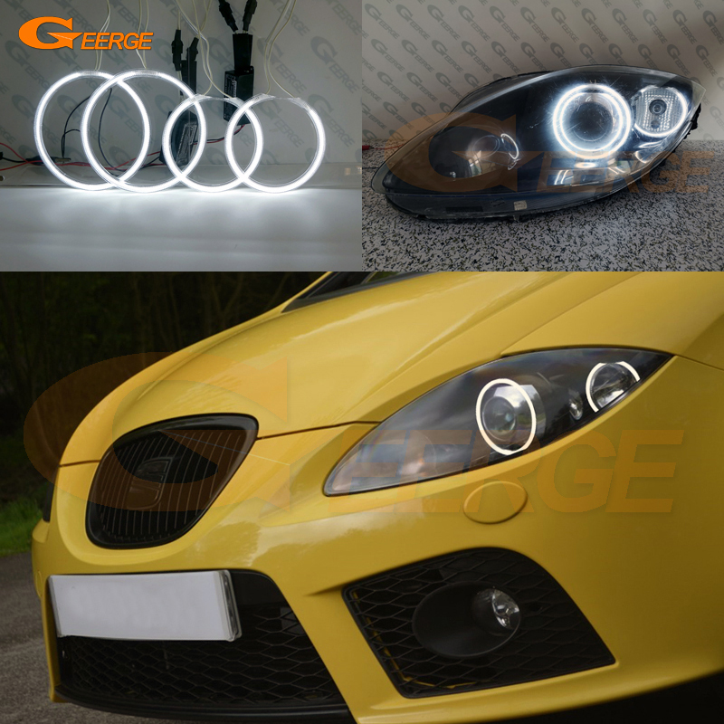 Excellent CCFL Angel Eyes Kit Halo Rings Ultra Bright For Seat Leon Mk2 1P Facelift 2009 2010 2011 2012 Xenon Headlight