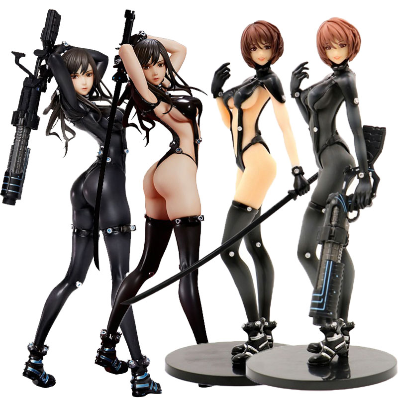 New Anime Gantz O No.16 Cool Black Shotgun Ver Reika 23cm Display PVC Figure