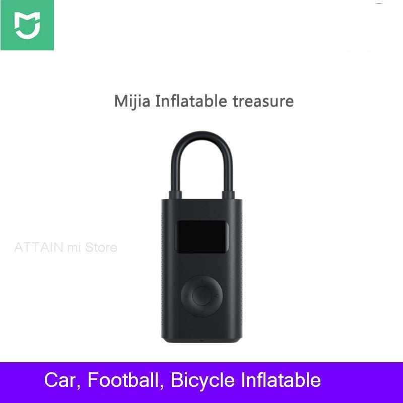 Оригинальный Xiaomi mijia Inflation драгоценный автомобильный насос портативный мини-мини велосипедный насос автомобильный воздушный насос