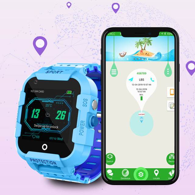DF39 Kids Smart Watch 4G Sim Card Gps Wifi Lbs Tracker Watch Sos Call 1.4 Inch Camera Children Baby Tracking Clock Gift 6
