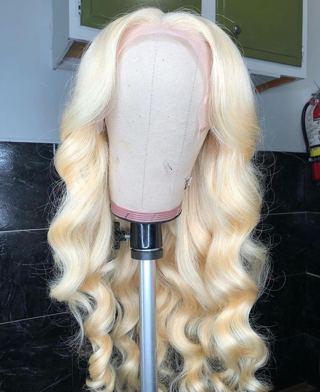 Middle Part Body Wave 13*1 Lace Front Wigs 28 inch   613 Blonde Deep Part Wig Pre Plucked With Baby Hair 5