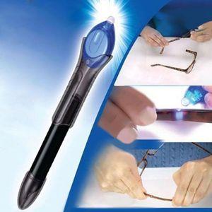 5 Second Quick Fix Liquid Glue Pen UV Light Repair Tool Super Powered Liquid Plastic Welding Compound Office Supplies