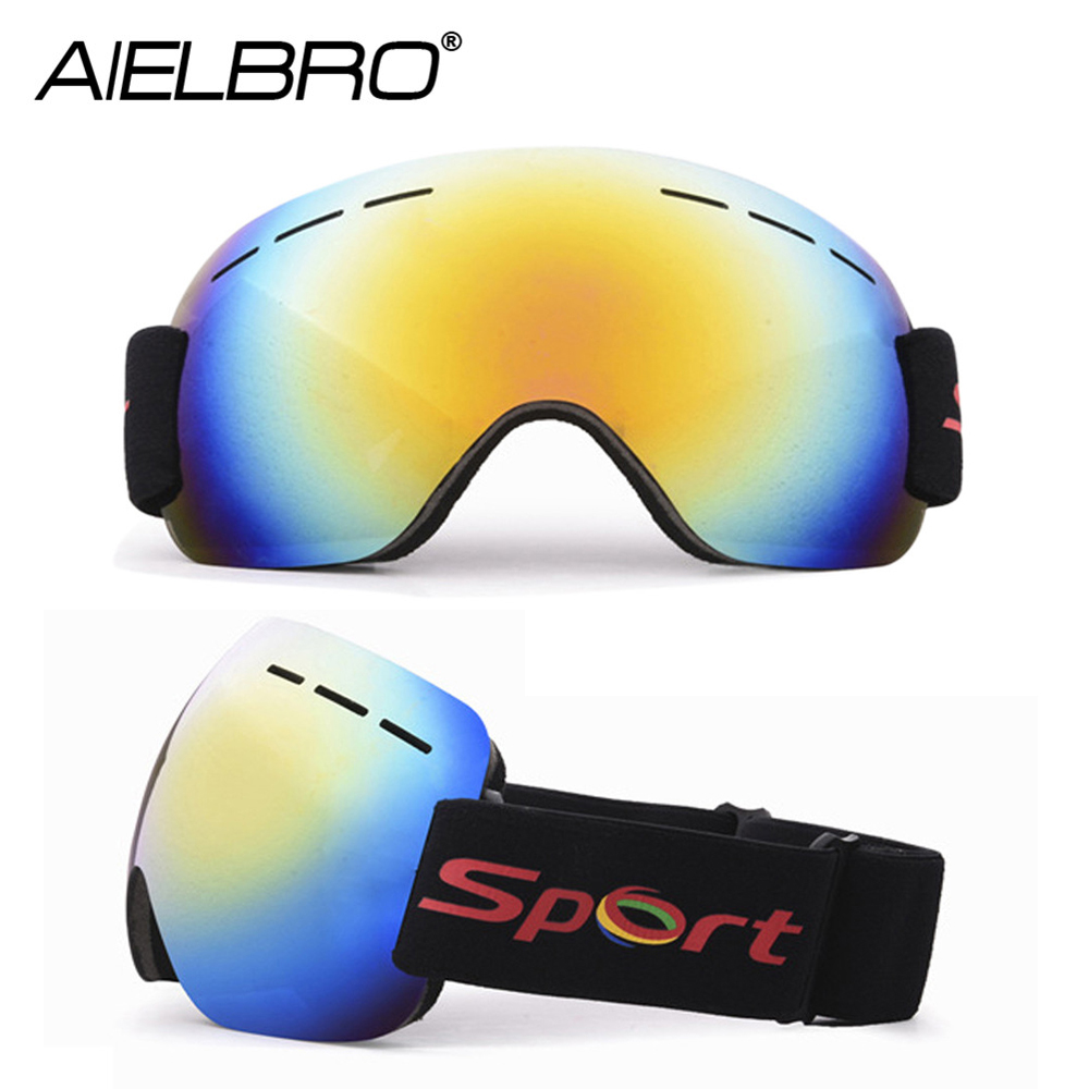 2020 Winter UV400 Protection Ski Eyewear Windproof Dustproof Anti Fog Snow Skiing Goggles Outdoor Sports Snowboard Ski Glasses