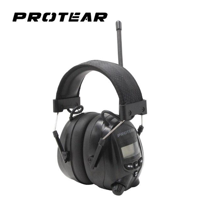 Protear NRR 25dB אלקטרוני שמיעת מגן AM FM רדיו מחממי אוזני הגנת אוזן אלקטרונית אלקטרוני Earmuff