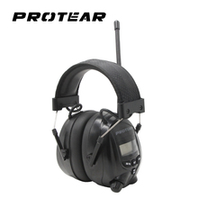Protear NRR 25dB Electronic Hearing Protector AM FM Radio Earmuffs Electronic Ear Protection Electronic Earmuff