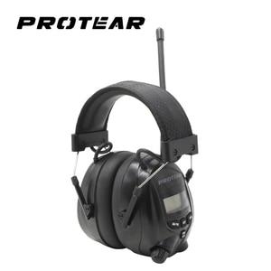 Image 1 - Protear NRR Protector auditivo electrónico, orejeras de Radio AM FM, protección auditiva electrónica