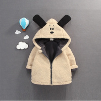Baby Girl Jacket Winter Outdoor Jackets For Boys Clothing Hooded Thick Warm Outerwear Windbreaker Baby Kids Coats Infant Jacket