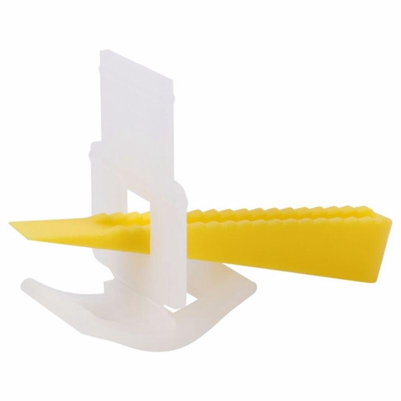 500 Clips + 200 cuñas espaciadores niveladores de azulejos de pared de piso herramientas de sistema de nivelación plana herramientas de medición física espaciadores de plástico 100 Uds. Herramientas de construcción de pared de piso de cerámica plana sistema de nivelación de azulejos reutilizable Kit de sistema de nivelación de azulejos