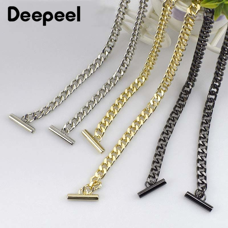 Deepeel 1pc 120cm Bags Metal Chain Crossbody Belt Wallet Handle Purse Strap Replaced Strap DIY Handbag Hardware AccessoriesF7-26