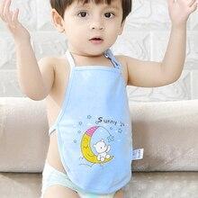 Apron Neck-Protect Eating Newborn Baby Cotton Cartoon Moon Belly-Bib Hanging Daily Nursing